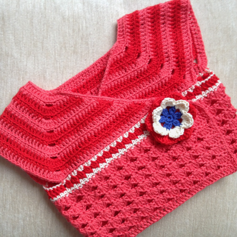 Sharing a pattern for a one-peace wrap cardigan for my baby-girl