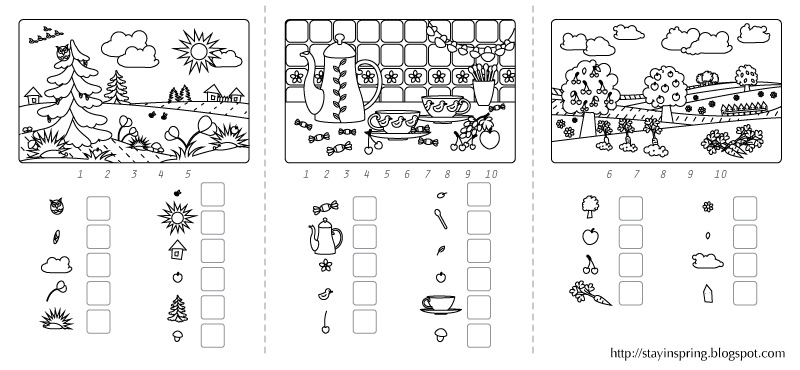 Sharing Printable Learning Numbers Activity Pages (One to Ten)