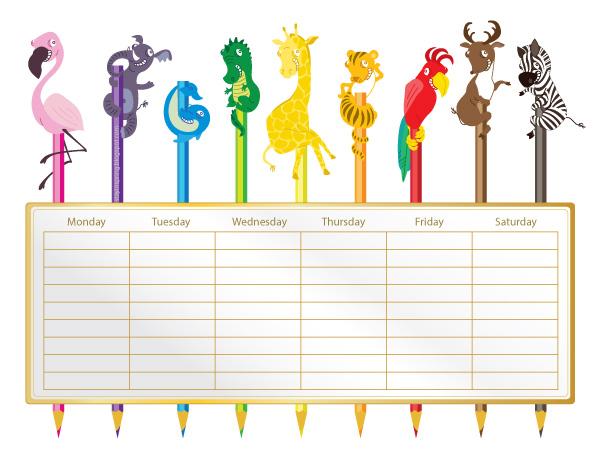 Sharing printable school timetable