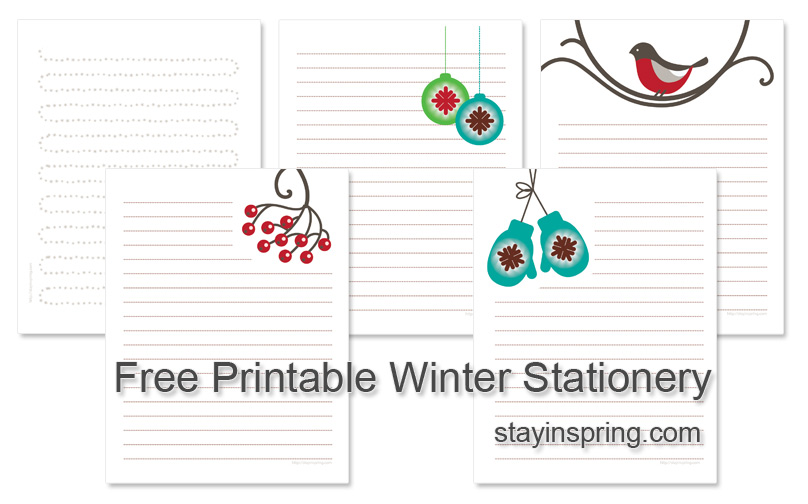 Sharing Cute Printable Winter Stationery