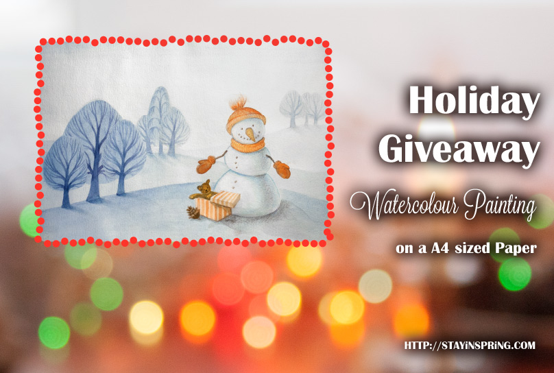 Watercolour Painting Giveaway Christmas 2014