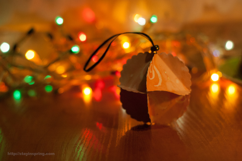 DIY Paper Christmas Tree Ball