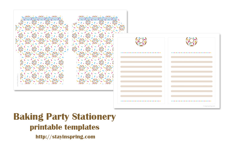 Baking party stationery