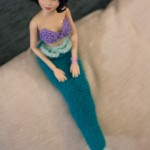 Crocheted tail for Little Mermaid