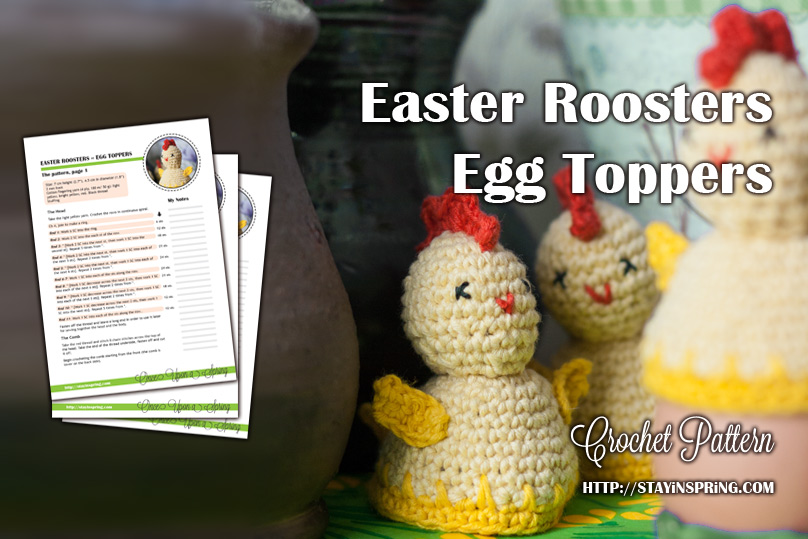 Easter Rooster Egg Topper