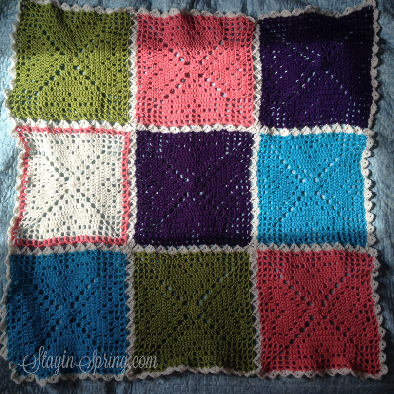 crocheted square blanket