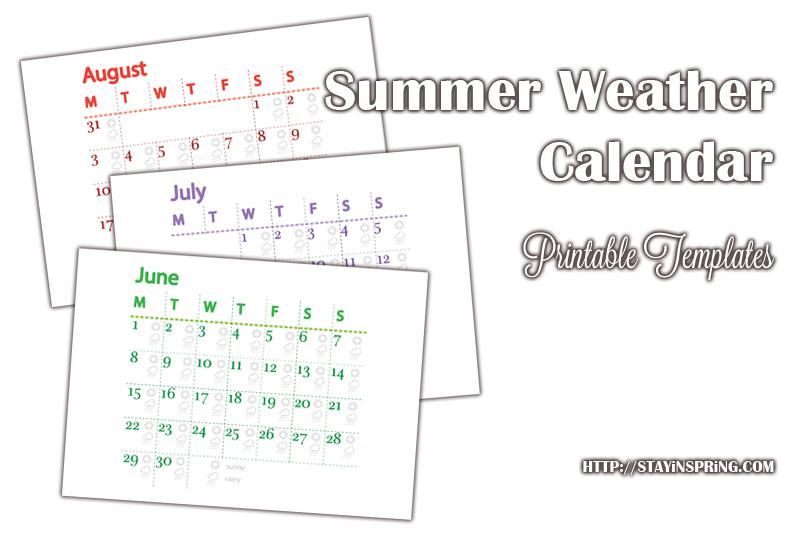 Летне-вечерняя прогулка и календарь погоды