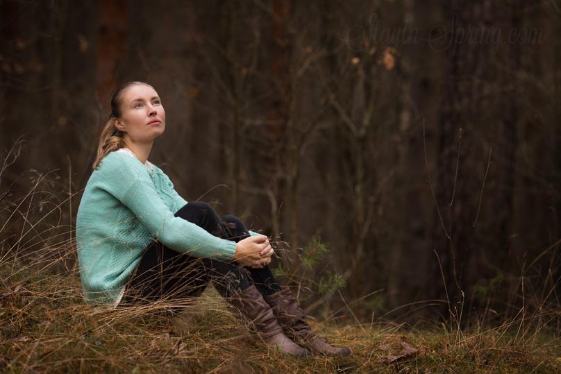 Исследую места для съёмок: лес.