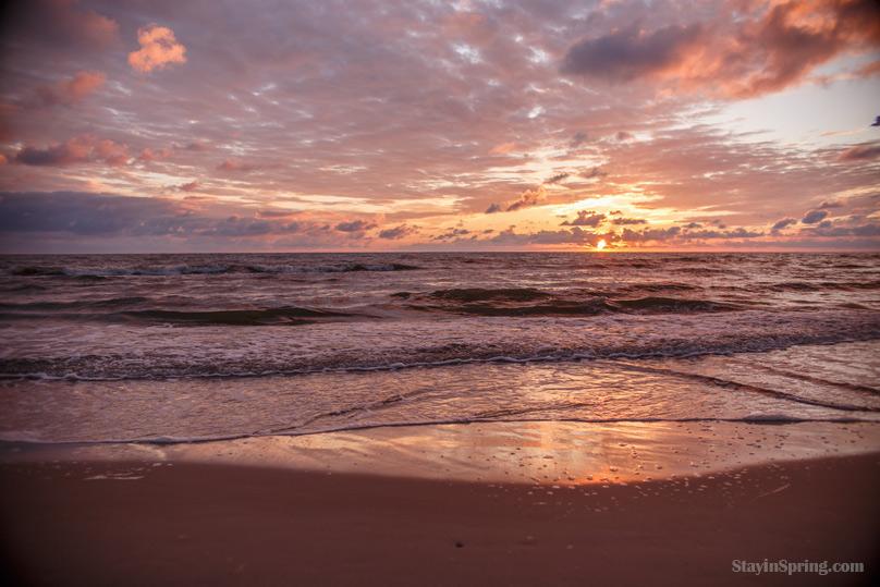 Летнее солнцестояние, Паланга, закат